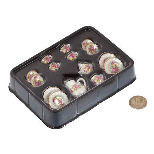 Набор фарфора миниатурный чайный, 15 предметов Розы