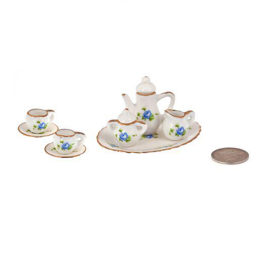 Набор фарфора миниатурный чайный, 8 предметов Голубая Роза