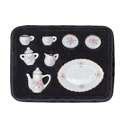 Набор фарфора миниатурный чайный, 8 предметов Розовая Роза