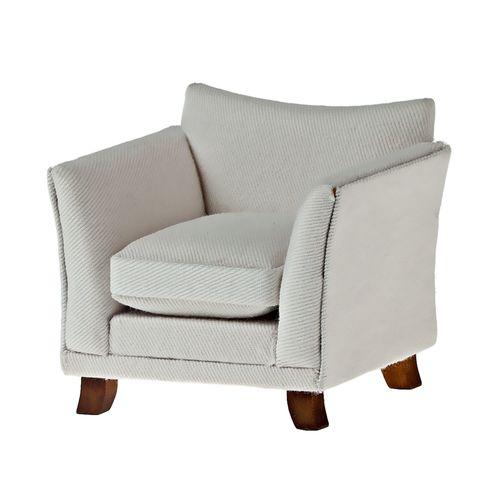 Кресло, белая ткань