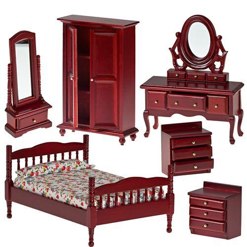 Набор мебели для спальни, махагон