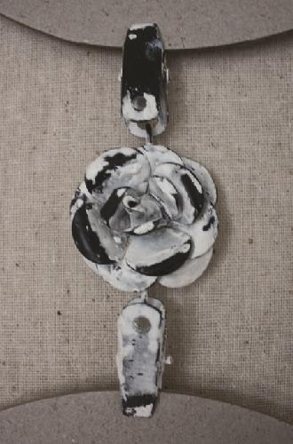 Двойная прищепка-цветочек CIH024