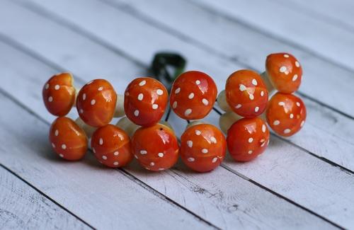 Грибочки оранжевые, 12 шт