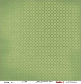 Бумага для скрапбукинга 30,5х30,5 см 180 гр/м двусторон Сказка про Фей Сказка, 10 шт*уп