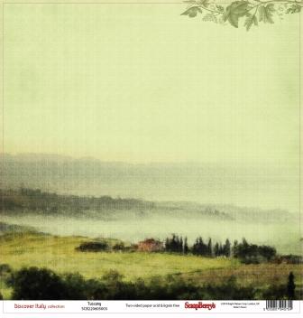 Бумага для скрапбукинга 30,5х30,5 см 180 гр/м двусторон Итальянские каникулы Тоскана, 10 шт*уп