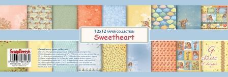 Набор бумаги для скрапбукинга 30,5х30,5 см 190 гр/м Мальчик и Девочка, 9 листов
