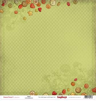 Бумага для скрапбукинга 30,5х30,5 см 190 гр/м двусторон Мальчик и девочка Детская любовь (10 шт*уп)