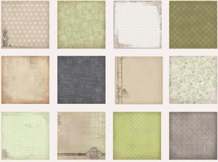 Набор бумаги для скрапбукинга 15х15 см 190 гр/м Фотоархив, 24 листа