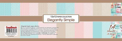 Набор бумаги для скрапбукинга 30,5х30,5 см 190 гр/м, Элегантно Просто, 14 листов