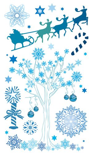Набор натирок 12*20см Снежное дерево