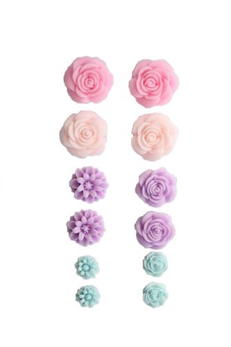 Набор объемных цветов, самоклеющиеся, 70*135мм НЕЖНЫЕ SCB 250306