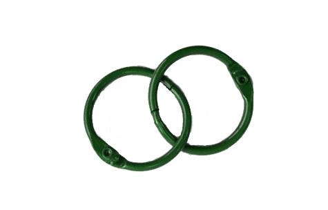 Кольца для альбомов, 2 шт зеленые 30 мм SCB 2504730