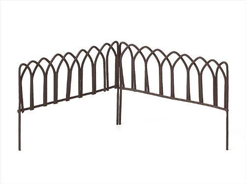 Металлический декоративный заборчик коричневый