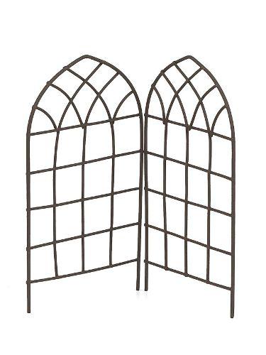 Металлический декоративный высокий заборчик коричневый