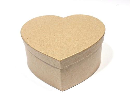 Заготовка коробки из папье-маше СЕРДЦЕ 11*12,5*6см 1шт SCB 2765202