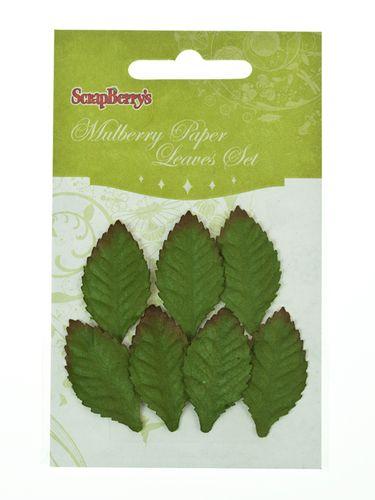 Набор листочков, 7 шт, Мелкие листья розы