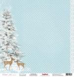 Бумага для скрапбукинга 30,5х30,5 см 180 гр/м одностор Зимнее Утро Зимнее Утро, 1 лист