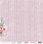Бумага для скрапбукинга 30,5х30,5 см 180 гр/м одностор Зимнее Утро Морозный День, 1 лист