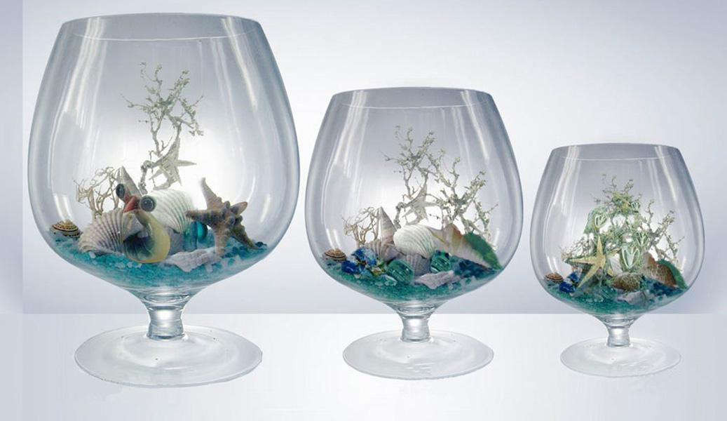 Стеклянные вазы для декора